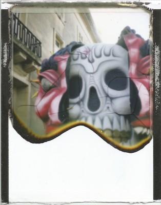 Skull,,Carnival 2013,Instant Film,FujiFilm Fp100,Alan Falzon,Fotographija
