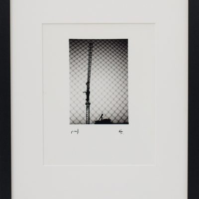 Crane, Construction, Net, Design, Shapes, Fence, Alan Falzon, Fotographija, Hand Printed Exhibition, Silver Gelatin, Darkroom, Fine Art, Traditional, Hand Made, Unique Prints, Photography, Splendid, Valletta