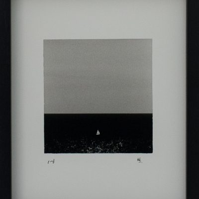 Sailing boat, Bahar Ic Caq, Contrast, No Clouds, Abstract, Minimal, Alan Falzon, Fotographija, Hand Printed Exhibition, Silver Gelatin, Darkroom, Fine Art, Traditional, Hand Made, Unique Prints, Photography, Splendid, Valletta