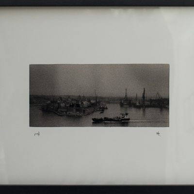 Random Day, Valletta, Grand Harbour, Ship, Dark, Grain, Moody, Alan Falzon, Fotographija, Hand Printed Exhibition, Silver Gelatin, Darkroom, Fine Art, Traditional, Hand Made, Unique Prints, Photography, Splendid, Valletta