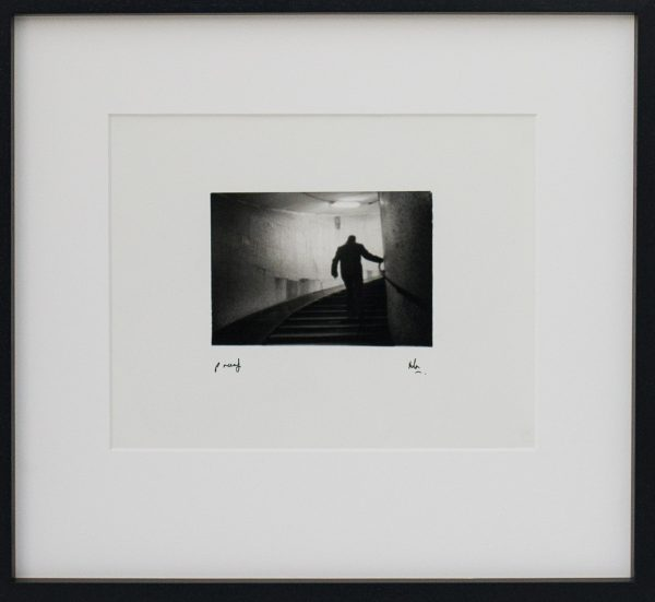Hurry, Rushed, Dark, Out of Focus, Floriana, Sub Way, Silhouette, Man, Alan Falzon, Fotographija, Hand Printed Exhibition, Silver Gelatin, Darkroom, Fine Art, Traditional, Hand Made, Unique Prints, Photography, Splendid, Valletta
