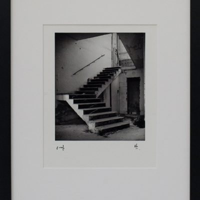Stairway, Abandoned Factory, Abandoned Offices. Dowty Factory, Mriehel, Long Gone, Alan Falzon, Fotographija, Hand Printed Exhibition, Silver Gelatin, Darkroom, Fine Art, Traditional, Hand Made, Unique Prints, Photography, Splendid, Valletta
