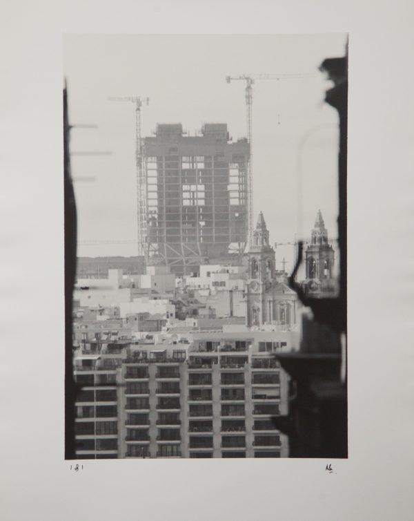 Mercury Towers, Construction, St.Julians, Paceville, Zaha Hadid, J Portelli Projects, Silver Gelatin Print, Fotographija, Alan Falzon